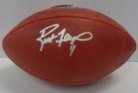 Brett Favre Autographed Official NFL Duke Authentic Football
