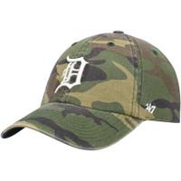 Detroit Tigers 47 Brand Clean Up Adjustable Camo Hat