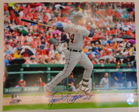 Miguel Cabrera Autographed Detroit Tigers 16x20 Photo #6 - 400th Home Run