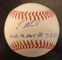 "Eric Haase Autographed Baseball - Official Major League Ball w/ ""inside the park HR 7-3-21"""