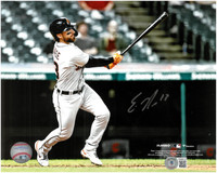Eric Haase Autographed Detroit Tigers 8x10 #1 - Home Run Swing