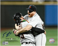 Eric Haase Autographed Detroit Tigers 8x10 #2 - Turnbull No Hitter Celebration