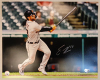 Eric Haase Autographed Detroit Tigers 16x20 #1 - Home Run Swing