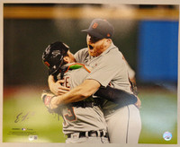 Eric Haase Autographed Detroit Tigers 16x20 #2 - Turnbull No Hitter Celebration