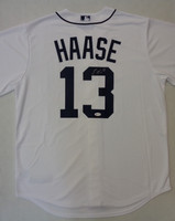 Eric Haase Autographed Detroit Tigers Home Nike Replica Jersey
