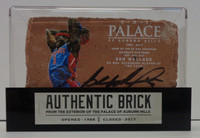 Ben Wallace Autographed Palace of Auburn Hills Brick with Case - Dunk