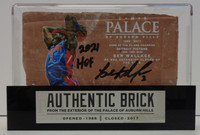 """Ben Wallace Autographed Palace of Auburn Hills Brick with Case - Dunk w/ """"2021 HOF"""""""
