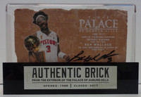 Ben Wallace Autographed Palace of Auburn Hills Brick with Case - Trophy
