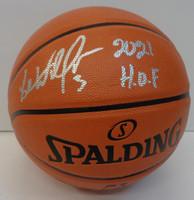 "Ben Wallace Autographed Spalding I/O Basketball w/ ""2021 HOF"""