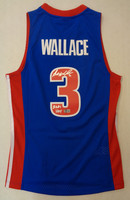 "Ben Wallace Autographed Detroit Pistons Mitchell & Ness Basketball Jersey w/ ""2021 HOF"""