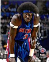 """Ben Wallace Autographed Detroit Pistons 8x10 Photo #1 w/ """"2021 HOF"""""""