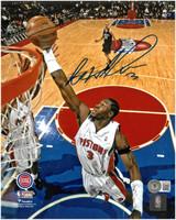 Ben Wallace Autographed Detroit Pistons 8x10 Photo #2