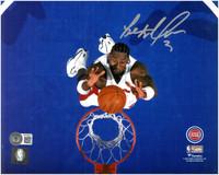 Ben Wallace Autographed Detroit Pistons 8x10 Photo #3