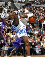 Ben Wallace Autographed Detroit Pistons 8x10 Photo #5