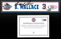 Ben Wallace Autographed Detroit Pistons 2003 NBA Playoffs Locker Nameplate