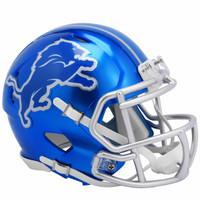 Barry Sanders Autographed Detroit Lions Riddell Flash Mini Football Helmet (Pre-Order)