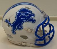Barry Sanders Autographed Detroit Lions Riddell Flat White Mini Football Helmet (Pre-Order)