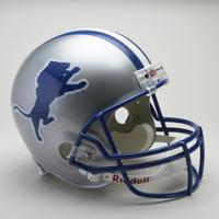 Barry Sanders Autographed Detroit Lions Riddell Throwback Replica VSR-4 Football Helmet (Pre-Order)