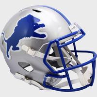 Barry Sanders Autographed Detroit Lions Riddell Throwback Replica Speed Football Helmet (Pre-Order)