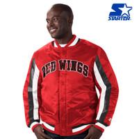 Detroit Red Wings Men's Stripe Starter Jacket