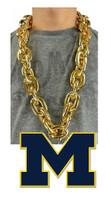 University of Michigan Fan Chain 10 Inch 3D Foam Magnet Necklace