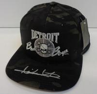 Isiah Thomas Autographed Bad Boys Snapback Hat - Black Multicam Alpine
