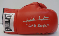 """Isiah Thomas Autographed Red Leather Everlast Boxing Glove w/ """"Bad Boys"""""""