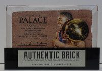 Isiah Thomas Autographed Palace of Auburn Hills Brick with Case