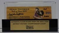 "Isiah Thomas Autographed Palace of Auburn Hills Floor Slat with Case w/ ""HOF 2000"""