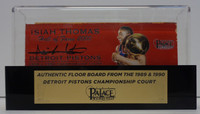 Isiah Thomas Autographed Palace of Auburn Hills Floor Slat with Case - Red