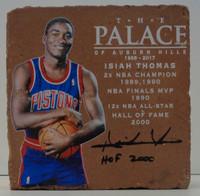 "Isiah Thomas Autographed Palace of Auburn Hills Brick w/ ""HOF 2000"""