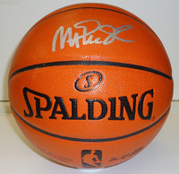 Magic Johnson Autographed Basketball - Spalding I/O
