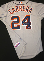 "Miguel Cabrera Autographed Detroit Tigers Road Authentic Cool Base Jersey - ""Triple Crown 2012"" and ""2012 AL MVP"" Inscriptions"