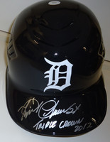 "Miguel Cabrera Autographed Detroit Tigers Authentic Batting Helmet - ""Triple Crown 2012"" Inscription"