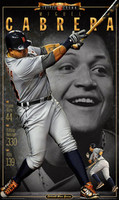 """Triple Crown"" Miguel Cabrera 2012 Free Press Poster"