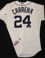 "Miguel Cabrera Autographed Detroit Tigers Home Authentic Cool Base Jersey - ""Triple Crown 2012"" Inscription"