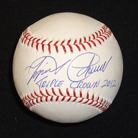 "Miguel Cabrera Autographed Baseball - ""Triple Crown 2012"" Inscription"