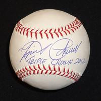 """Miguel Cabrera Autographed Baseball - """"Triple Crown 2012"""" Inscription"""