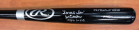 "Lou Whitaker Autographed Big Stick Bat (Black) inscribed ""Sweet Lou"" & ""84 WCS"""