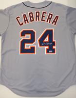 Miguel Cabrera Autographed Detroit Tigers Road Jersey