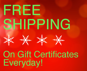 Free Shipping on Gift Certificates