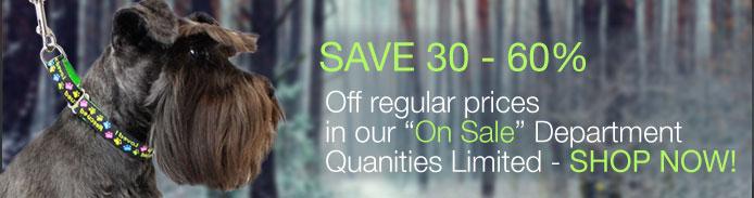 Save 30 - 60% on dog collars