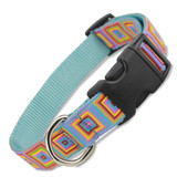 dog collar, multi color geometric design