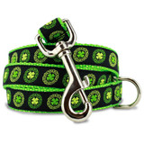 Irish Dog Leash, Celtic Knots & Clover, 4', 5', 6' Long, D-ring, Nylon