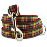 Plaid Dog Leash, Buchanan Tartan, 4', 5', 6' Long, D-ring, Nylon