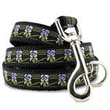 flower dog leash, vintage design
