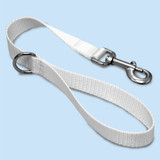 Short Traffic, City, Training Leash for Dogs, White Nylon