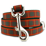 Plaid Dog Leash, Cameron Tartan, 4', 5', 6' Long, D-ring, Nylon
