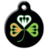 Shamrock Dog ID Tag, Irish Dog ID Tag
