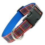 Plaid Dog Collar, Fraser Tartan Dog Collar